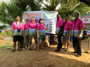 Our group in the newly bought Kumphawapi shirts