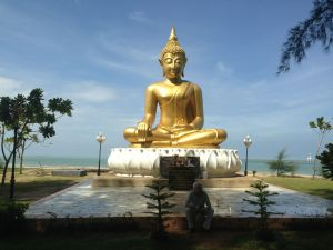 The Buddha overlooking the memorial park