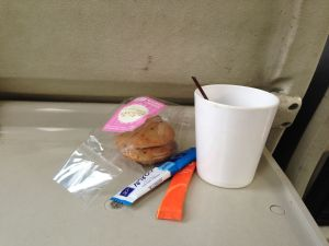 Breakfast on the train